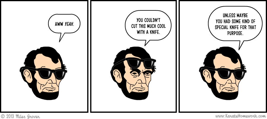 THE ONE WHERE ABE HAS COOL SHADES
