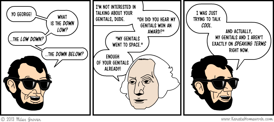 IN THIS ONE ABE TALKS LIKE A COOL PERSON
